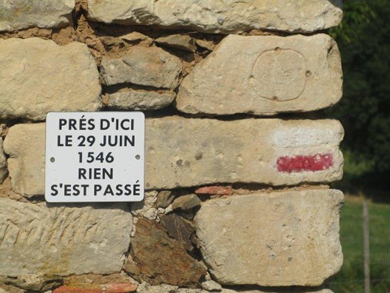 Plaque Commémorative Importante près de La Barbotinière