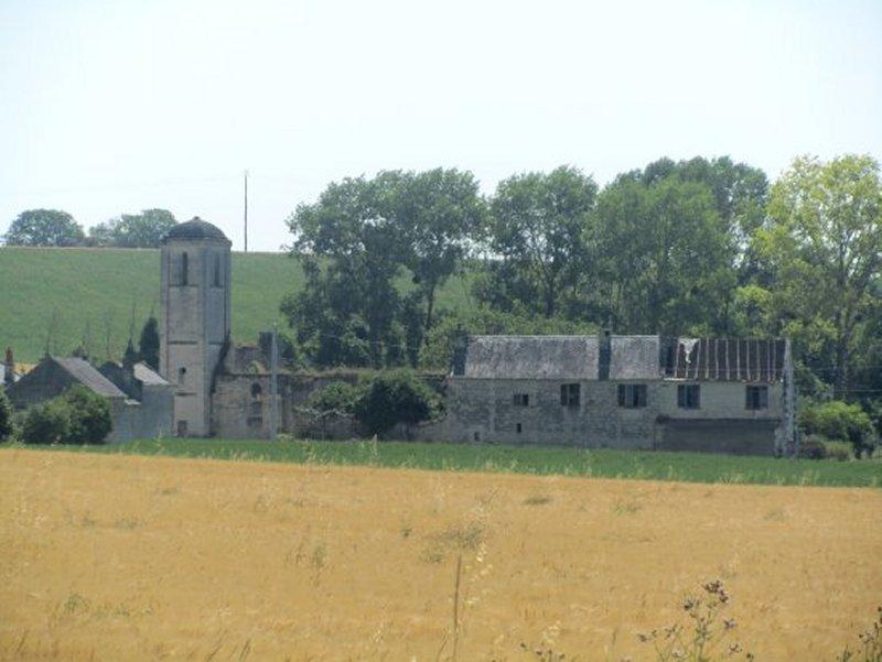 Ruines du Hameau de St Vincent, près de Brézé