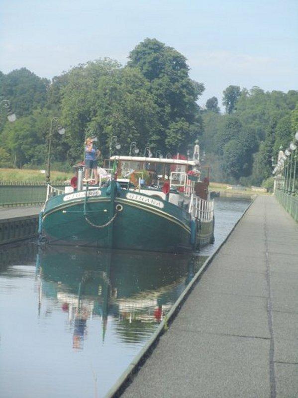 La Traversée sur le Pont Canal de Briare