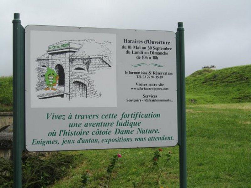 Panneau d'Information du Fort de Bourlémont