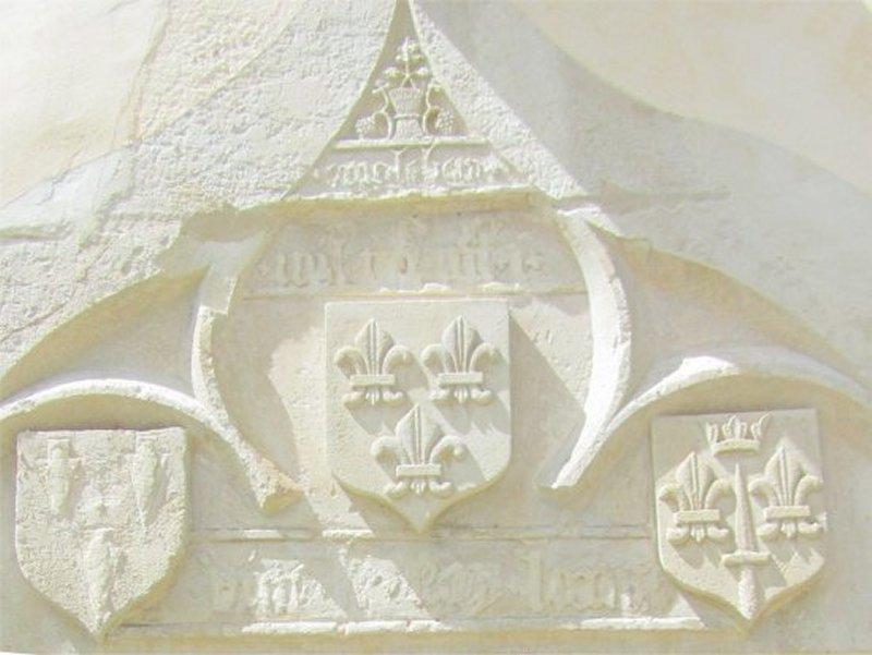 Le Dessus de la Porte de la Maison Natale de Jeanne d'Arc