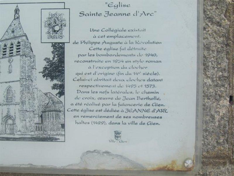 L'Eglise de Gien Dédiée à Sainte Jeanne d'Arc